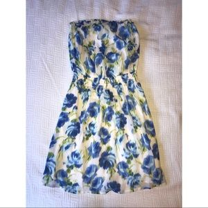Cute strapless floral dress